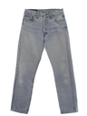 Mens Stone Washed Levis 501 Straight Leg Denim Jeans Pants
