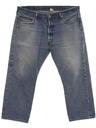 Mens Stone Washed Levis 501xx Straight Leg Shrink To Fit Denim Jeans Pants