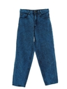 Womens Acid Washed Straight Leg Denim Jeans Pants