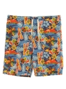 Mens Wicked 90s Hawaiian Board Shorts