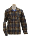 Mens Plaid Flannel Sport Shirt Jacket