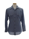 Mens Hippie Chambray Work Shirt