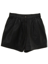 Womens Totally 80s Leather Shorts