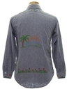 Unisex Embroidered Chambray Shirt