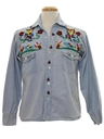 Unisex Hippie Embroidered Chambrey Shirt