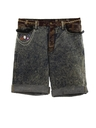 Womens Totally 80s Acid Washed Denim Jeans Jorts Shorts
