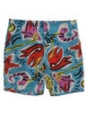 Womens Mens Totally 80s Print Baggy Shorts