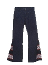 Mens Elephant Bellbottom Jeans Pants