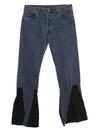 Mens Levis 501 Bellbottom Leather Jeans Pants