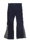 Mens Elephant Bellbottom Leather Jeans Pants