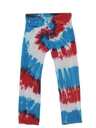 Mens Levis 501 Tie Dyed Jeans Pants