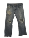 Mens Stone Washed Levis 527 Bootcut Cut-Off Denim Jeans Shorts
