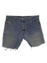 Mens Levis 501s Denim Cut-Off Jeans Shorts