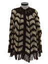 Womens Knit Sweater Poncho Cape