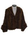 Womens Fur Cape Jacket