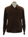 Mens Leather Sweater