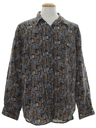 Mens Totally 80s Graphic Print Sport Shirt