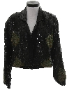 Womens Totally 80s Sequined Cocktail Coat Jacket
