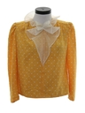 Womens Totally 80s Ruffled Secreteary Shirt