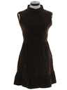 Womens Mod Velvet Dress