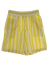 Womens Totally 80s Baggy Striped Shorts