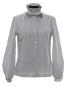 Womens Totally 80s Ruffled Secretary Shirt