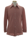 Mens Knit Print Disco Shirt