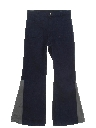 Mens Elephant Bellbottom Leather Jeans Pants