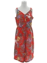 Womens Totally 80s Hawaiian Short Jumpsuit