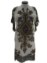 Womens Dashiki Style Hippie Caftan Dress