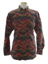 Mens Wicked 90s Geometric Print Shirt