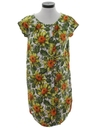 Womens Mod Hawaiian Shift Dress