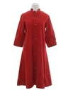 Womens Mod Hippie Style A-Line House Dress