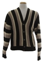 Mens Mod Wool Cardigan Sweater