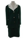 Womens Mod Skirt Suit