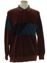 Mens Totally 80s Velour Shirt