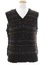 Mens Wool Snowflake Sweater Vest