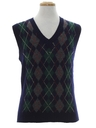 Mens Argyle Wool Golf Sweater Vest