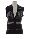 Mens Totally 80s Wool Sweater Vest