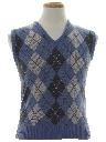 Mens/Boys Mod Argyle Sweater Vest