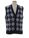Mens Mod Argyle Sweater Vest