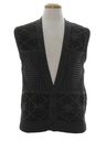 Mens Totally 80s Cosby Style Sweater Vest