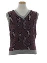 Mens Totally 80s Paisley Sweater Vest
