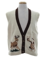 Mens Mod Reindeer Sweater Vest