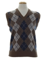 Mens Totally 80s Argyle Sweater Vest