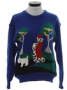 Womens Totally 80s Cheesy Kitschy COcktail Sweater