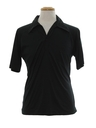 Mens Resort Wear Style Solid Disco Shirt