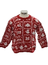 Unisex/Childs Snowflake Reindeer Ski Sweater