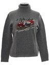 Womens Vintage Wool Christmas Ski Sweater