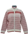 Womens or Girls Wool Snowflake Ski Sweater